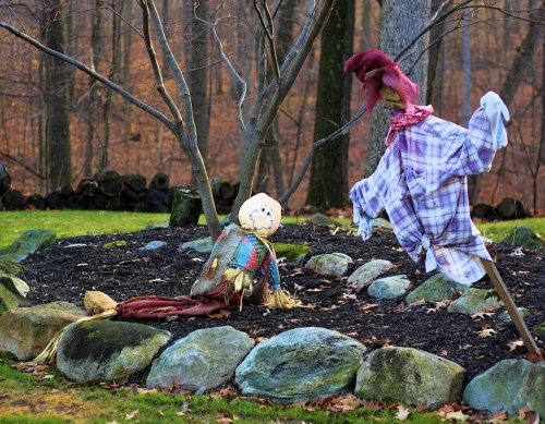 Scarecrows Lying Down On The Job