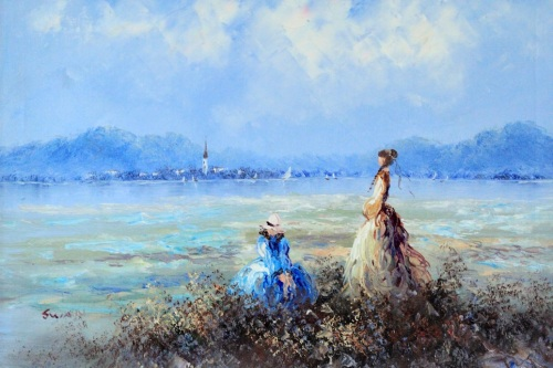 Two Women By The Bay