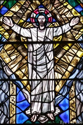 Stained Glass Window of Christ